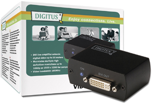 DVI Repeater, bis 50M,165MHz, 1080p bei 1920x1200
