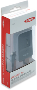 OTG USB 2.0 Hub & Kartenleser,f�r SD/MS/TF/M2/MMC Karten