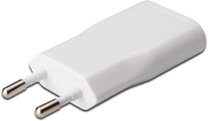 USB Power Adapter white 5V1A,USB A BU  Eurostecker