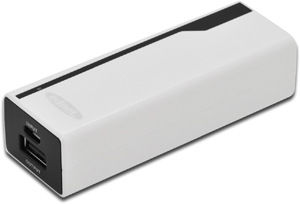 Power Bank  2.200mAh, Wei�,Led Status Anzeige