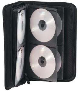 CD Tasche f�r  96 CD/DVDs,Nylon, Schwarz