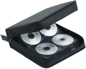 CD Tasche für 208 CD/DVDs,Nylon, Schwarz