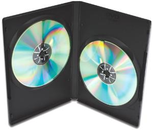 DVD Leerh�llen, 5er Pack, PP,Farbe: Schwarz, f�r 2 DVDs