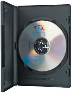 DVD Leerh�llen, 10er Pack, PP,Farbe: Schwarz, f�r 1 DVD