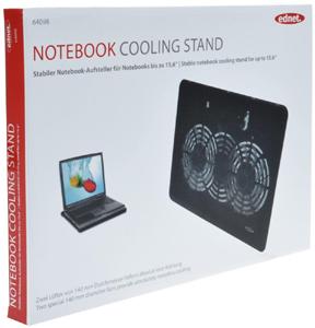 Notebook Kühler, bis zu 15,6\,2x 140mm Lüfter, schwarz