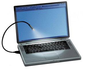 USB Notebook Lampe,UHB LED, schwarz