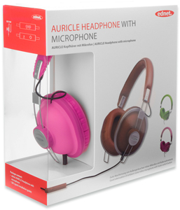 Headphone AURICLE Flamingo,mic and hook switch button