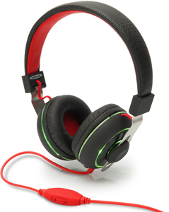 Headphone BeatLight On-Ear,Farbwechseltaste, Schwarz