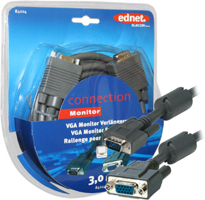 Monitor Verl. 3m HD15BU/STFE,HD DSUB15 BUHD DSUB15 ST