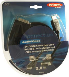 HDMI/ADVI/D Kab.E. STST 2m,DVI-D (24+1) HD-Ready