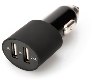 USB Car Adapter DUAL black,2x USB2.0, Output 5V/3,4A