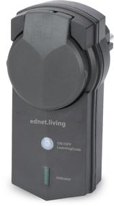 Outdoor receiver unit, Black,ednet.living Smart Plug