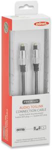 Digital Audio Kabel  2M,ToslinkToslink,Goldk,Blister
