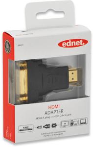 Adapter HDMI A STDVI D BU,Goldk., FullHD, 3D