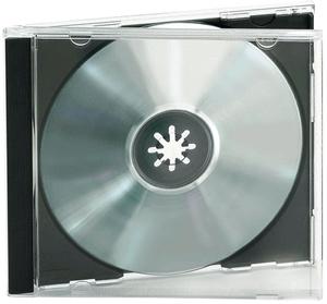 CD Leerhüllen,Single,10er Pack,Farbe: Schwarz, für 1 CD