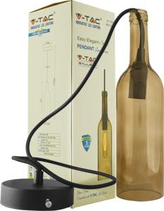 Lampen Geh�use Flaschenform,E14 Sockel, Braun