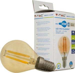 LED Bulblight E14 4W Warmwei�,350l, 300�, Amber Design, P45