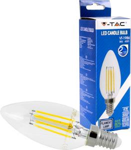 LED Kerze E14 4W Warmwei�,400lm,300�,Retro Design,Glatt
