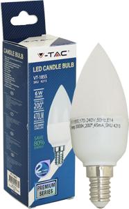 LED Kerze E14 6W Warmweiß,SMD Chip, 470lm, 180°