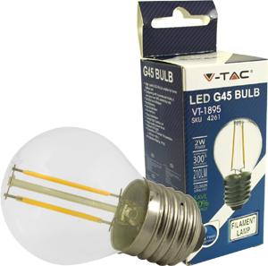 LED Bulblight E27  2W Warmwei�,180lm, 300�, Retro Design