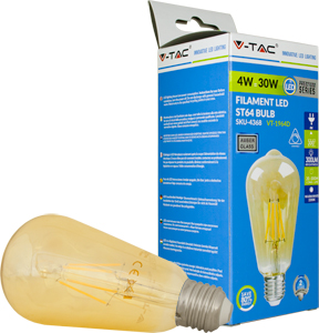LED Bulblight E27  4W Warmwei�,300lm, 300�, Retro, Dimmbar