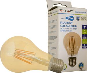 LED Bulblight E27  4W Warmwei�,350lm, 300�, Amber Design, A60