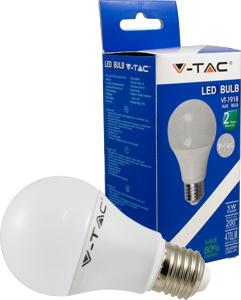 V-TAC 4283 LED Birne A60 E27 5 Watt 3000K 470lm 200D Thermoplastik