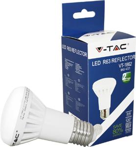 LED Bulblight E27  8W Warmwei�,Epistar Chip, 500lm,120�