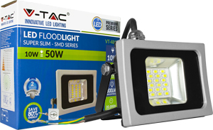 LED Fluter 10W Kaltwei� IP65,800lm Leuchtkraft,Black/Silver