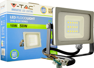 LED Fluter 10W Warmwei� IP65,800lm Leuchtkraft,Black/Silver