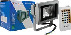 LED Fluter 10W RGB Funk IP65,800lm Leuchtkraft, Grau