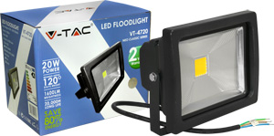 LED Fluter 20W Warmweiß IP65,1600lm Leuchtkraft, Schwarz