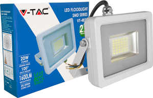 LED Fluter 20W Kaltweiß IP65,1600lm Leuchtkraft, Weiß