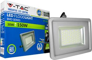 LED Fluter 30W Kaltwei� IP65,2400lm Leuchtkraft, Black/Sil.
