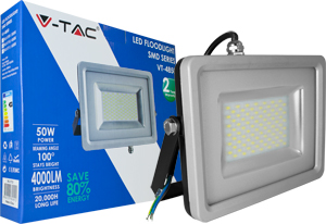 LED Fluter 50W Warmwei� IP65,4000lm Leuchtkraft, Black/Sil.