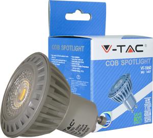 LED Spot GU10 6W Kaltweiß,COB Chip, 450lm, 110°