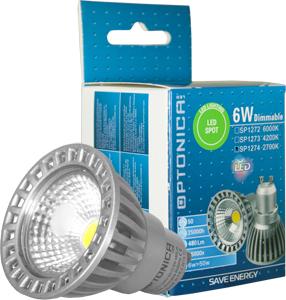 LED Spot GU10 6W Warmwei�,480lm, 50�, dimmbar