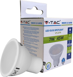 LED Spot GU10 7W Warmwei�,500lm, 3000K, 110�,50x57mm