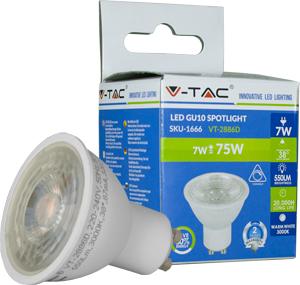 LED Spot GU10 7W Naturweiß,SMD Chip, 550lm, Dimmbar