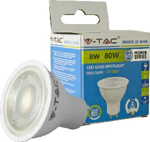 LED Spot GU10 8W Kaltwei�,750lm, 38�, 50x55mm