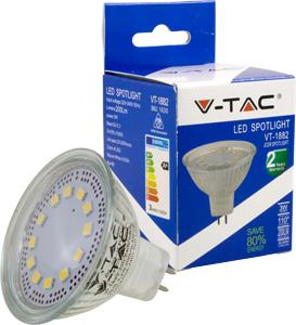 LED Spot  GU5.3 3W Naturw.,200lm, 110�, MR16, 230V