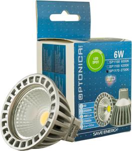 LED Spot  GU5.3 6W Neutralweiß,480lm, 50°, 12V, 55x50mm