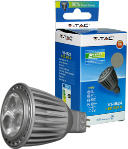 LED Spot  GU5.3 7W Naturw.,Epistar Chip, 500lm, 38�, 12V