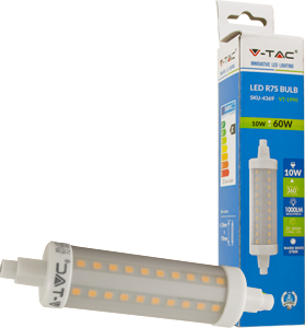 LED Bulb R7S, 10W, Naturwei�,1000lm, 360�, 25x118mm