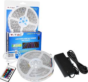 LED Strip RGB 60LED Set 5M,IP65, inkl. Fernb. u. Netzteil