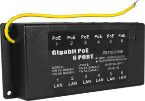 Desktop PassivPoE Inj. Gigabit,6 Port Passthrough