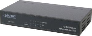 Desktop Switch, 5x10/100TX,N-Way, Uplink