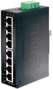 Indus. Switch, 8x10/100/1000TX,Hutschienen Montage